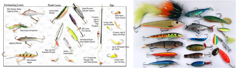 what hooks to use for trout and pike and what they look like, Fly Fishing Bait